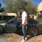Cristiano Ronaldo Shows Off His Porsche