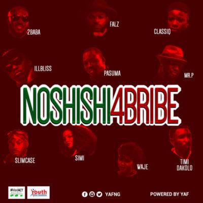 Music Lyrics: 2Baba, Simi, Pasuma, Falz x Mr P x Slimcase & Others - No Shishi 4 Bribe