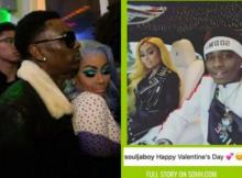 Blac Chyna And Soulja Boy Make Their Relationship Public On Valentine's Day