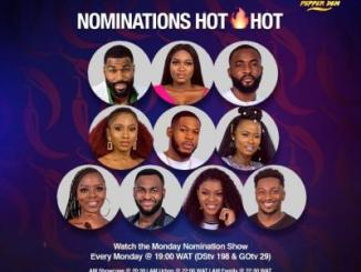 BBNaija Nomination: Five Housemates Face Eviction