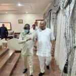 Oshiomhole Visits Senate Chief Whip, Orji Kalu (photos)