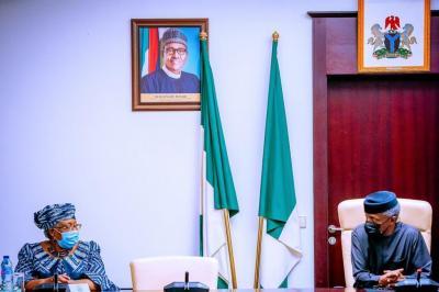 WTO DG Okonjo-Iweala Visits Osinbajo, Expresses Her Appreciation