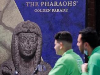 Majestic Cairo Parade As Egyptian Mummies Move Museum
