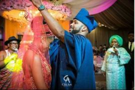 Banky W & Adesua Wed In Grand Style [SEE PHOTOS]