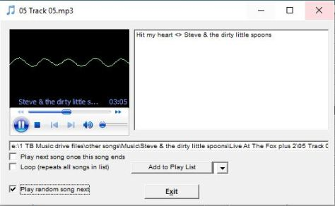 Song Director Play one song - catalogue music inventory database software for DJ