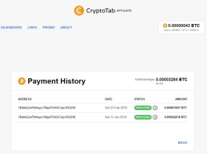 CryptoTabBrowser has paid me twice!