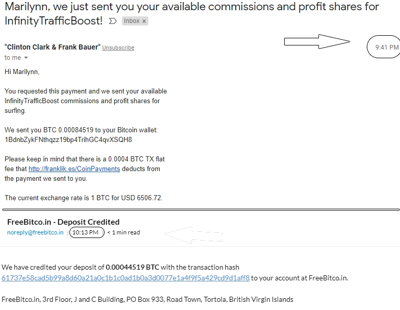 2nd ITB payment proof