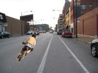 Not in the bike lane