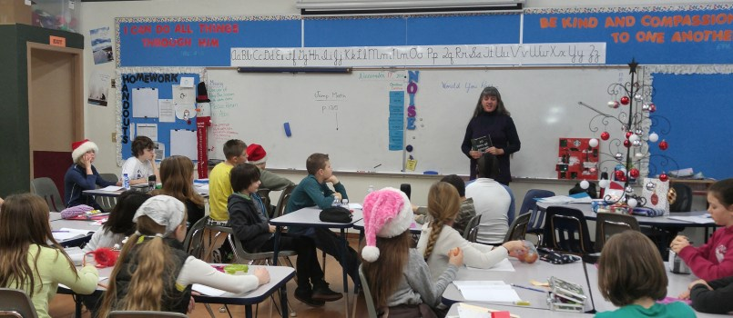 Songdove Books Author Visit to gr5 class - 30 Days of Advent Colouring Journal
