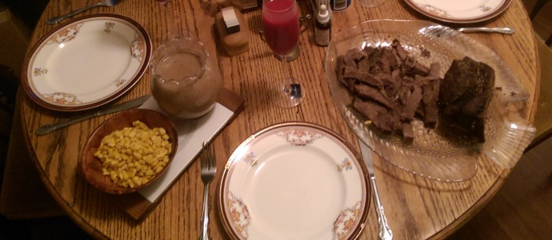 Part of Thanksgiving Dinner 2018 in the Dawson Household