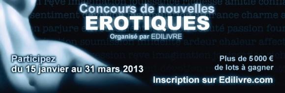 Edilivre.Com Lance Un Concours de Nouvelles Erotiques Du 15 Janvier 2013 au 31 Mars 2013