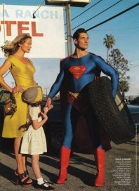 David Gandy en Superman pour American Vogue 3