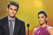 Paul Wesley avec Eva Longaria - Critics Choice Movie Awards 2013