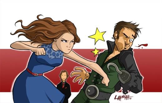 Belle vs. Hook by Stratosmacca