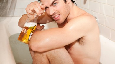Photo of Photoshoot – Ian Somerhalder se mouille pour Butch Hogan !