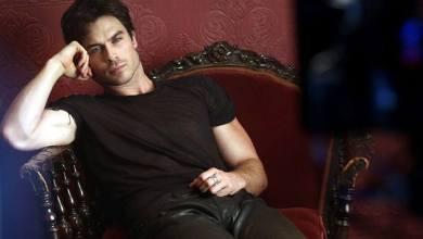 Photo de The Vampire Diaries – Promo Saison 5 – Cliché BTS de Damon