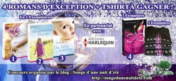 Concours Noël #6 : De superbes Romans Harlequin et Darkiss + 1 Tshirt à Gagner !