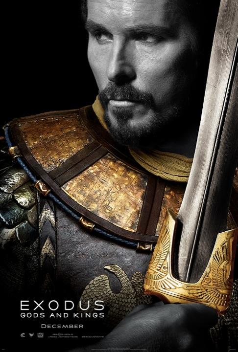 Exodus Gods and Kings poster 2 Christian Bale en Moïse