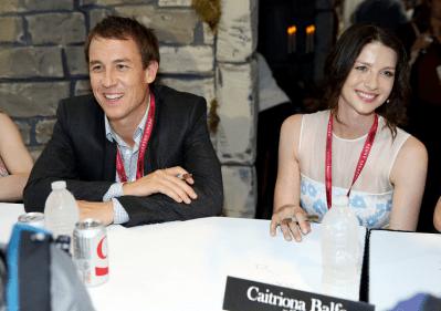 Outlander Comic-Con - Caitriona Balfe et Tobias Menzes