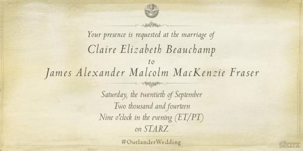 Outlander Wedding