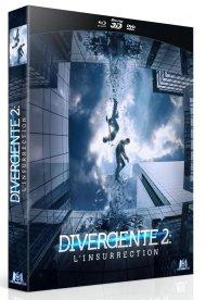 Combo Blu ray 3D Blu ray DVD divergente 2