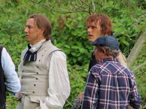 outlander s02 tournage sam et tobias