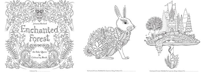 atelier du mercredi #4 coloriage Forêt enchantée de Johanna Basford