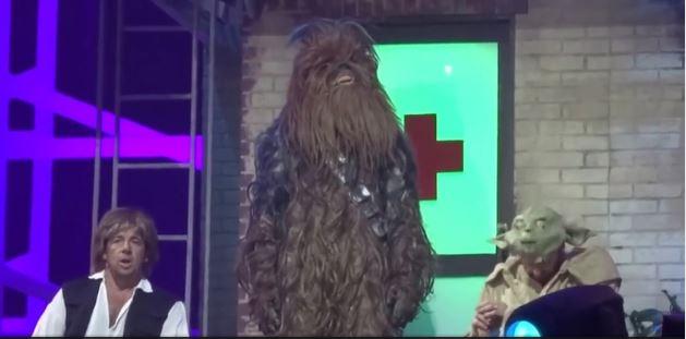 les enfoirés 2016 chewbacca