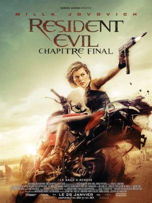 Resident Evil, chapitre final - affiche