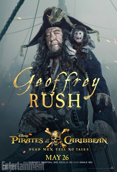 pirates des caraibes 5 Geoffrey Rush - Barbossa