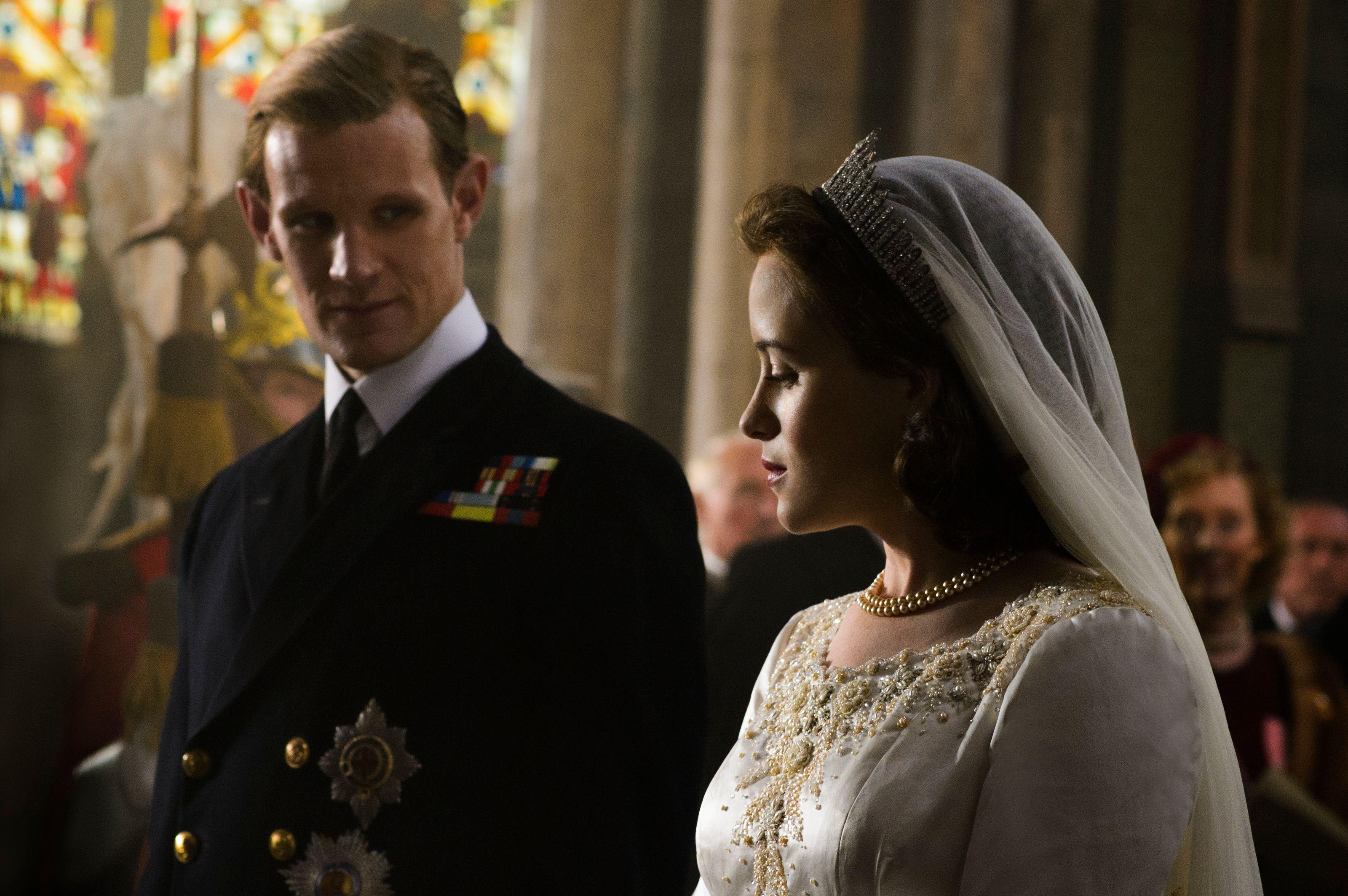 The Crown - Reconstitution Mariage d'Elizabeth 2