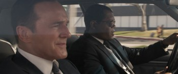 Marvel Studios' CAPTAIN MARVEL..L to R: Agent Coulson (Clark Gregg) and Nick Fury (Samuel L. Jackson) ..Photo: Film Frame..©Marvel Studios 2019