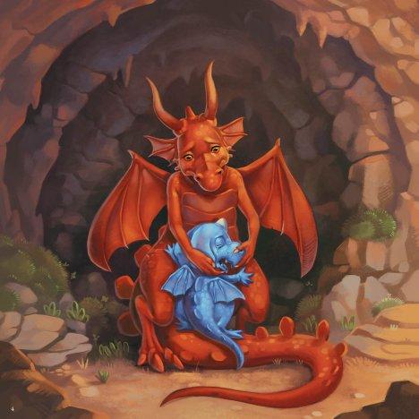 Azuro le dragon bleu (petit format) de Laurent & Olivier Souillé - Jérémie Fleury-1
