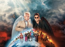 Picture shows: Aziraphale (MICHAEL SHEEN), Crowley (DAVID TENNANT)
