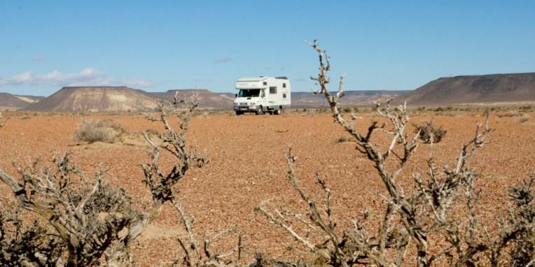 ARGENTINE / Bivouac à l'entrée du PN Bosque Petrificado