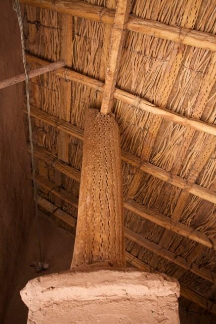 Susques / Chapelle - charpente en bois de cactus