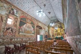 CURAHUARA DE CARANGAS / Chapelle Sixtine - vue générale de l'intérieur