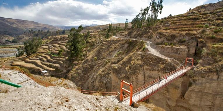CANYON DE COLCA / Balade sur les hauteurs de Yanque vers le village abandonné Uyo Uyo.