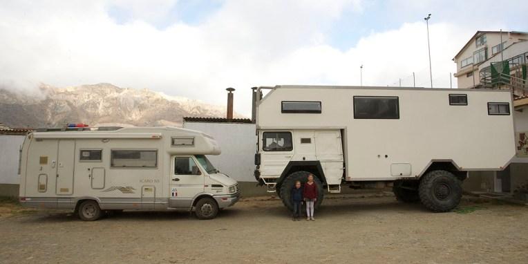 LA PAZ / Le camion de Mimi, Ben et Zoé, une famille toulousaine en balade en AmSud