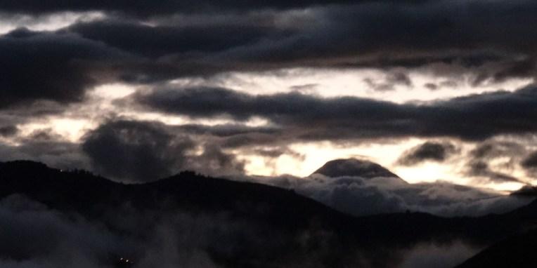 Vue sur le Chimborazo depuis le bivouac