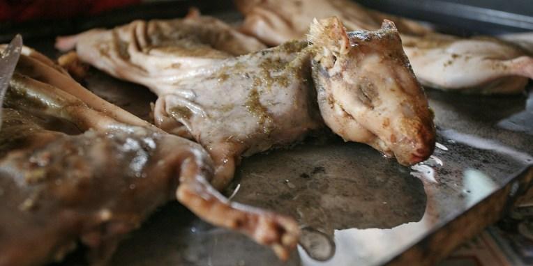 QUITO / Le cuy, plat dominical très recherché :-)