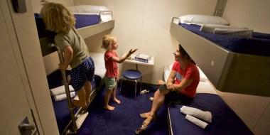 CARTAGENA / Traversée FerryXpress : notre cabine pour la nuit