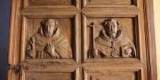 ANTIGUA / Dans la Merced, détail des portes d'entrée