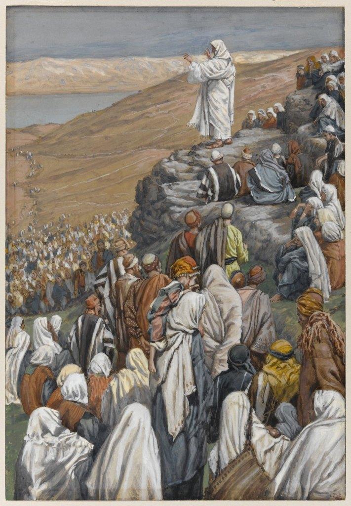 그림: 예수께서 팔복을 말씀하시다, James Tissot