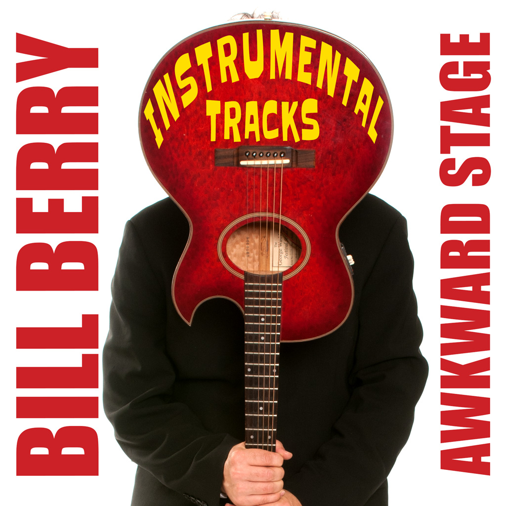 CD cover of Awkward Stage Instrumental Tracks - featuring photo of Bill Berry