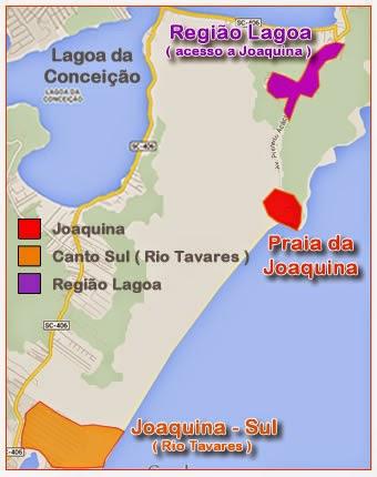 Mapa Praia da Joaquina