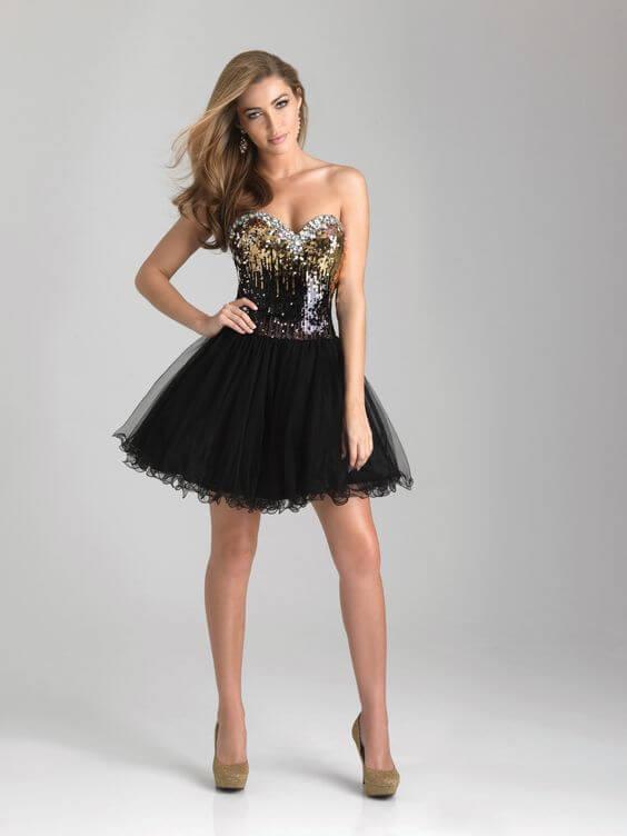 vestido-de-15-anos-curto-na-cor-preto-com-brilhos