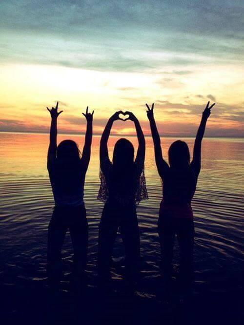fotos-em-trio-pôr-do-sol