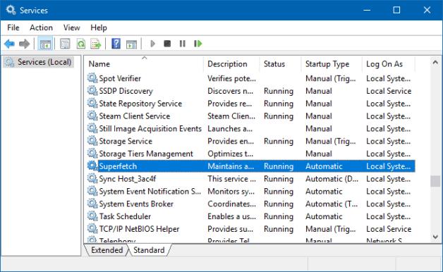 O que é o Superfetch no Windows 10? E como desativar