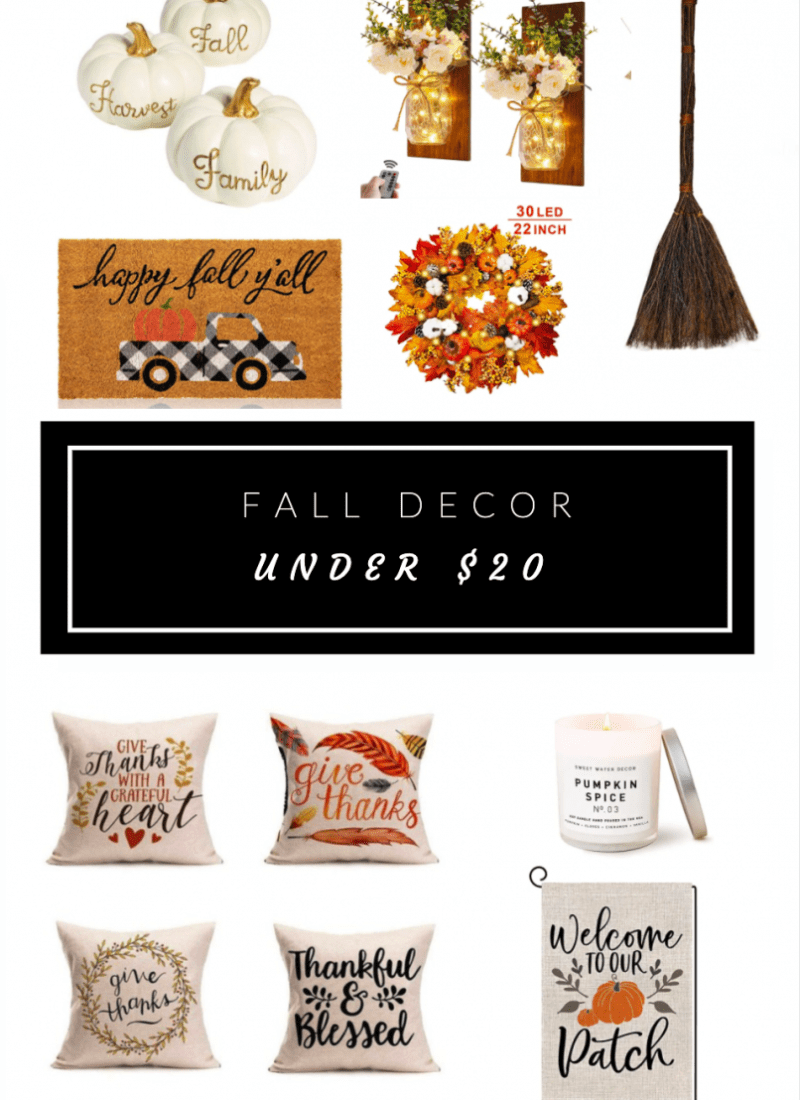 Cheap Fall Decor and Decoration Ideas for Under $20